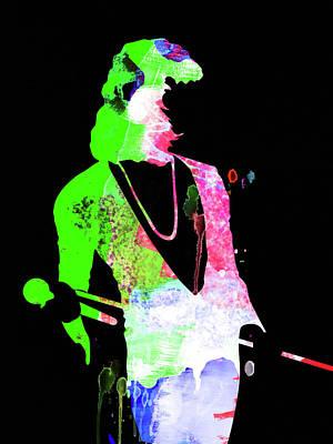 Freddie Mercury Wall Art - Mixed Media - Freddie Watercolor II by Naxart Studio