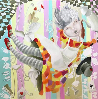 Animal Watercolors Juan Bosco - Free fall to wonderland by Yelena Revis