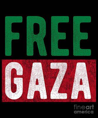 Digital Art - Free Gaza Palestine by Flippin Sweet Gear