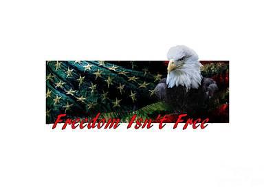 Mixed Media - Freedom Isn't Free by Ed Taylor