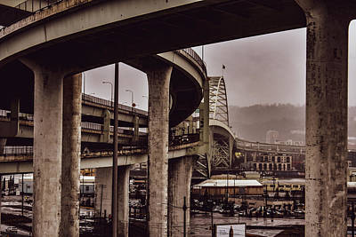 All You Need Is Love - Freemont Bridge traffic ramps by Susan Sligh