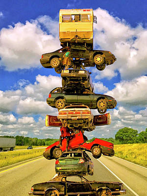 Photograph - Freeway Pile Up by Dominic Piperata