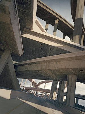 Photograph - Freeways, Low Angle View by Ed Freeman