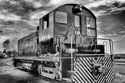 Photograph - Freight Yard Shifter Awaiting Work by Paul W Faust - Impressions of Light