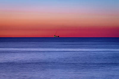 Photograph - Freighter On Lake Ontario by Jack R Perry