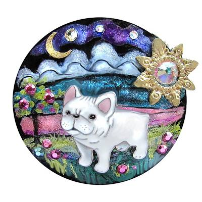 Jewelry - French Bull Dog Puppy Jewelry Art by Jean Batzell Fitzgerald