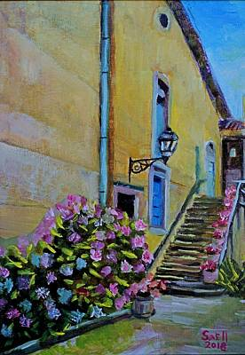 Painting - French Flowers by Roger Snell