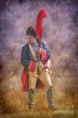 Digital Art - French Officer With Parley Flag Penns Colony by Randy Steele