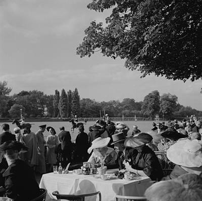 Dress Photograph - French Polo Crowd by Slim Aarons