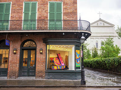Photograph - French Quarter Art In The Window New Orleans by John Rizzuto