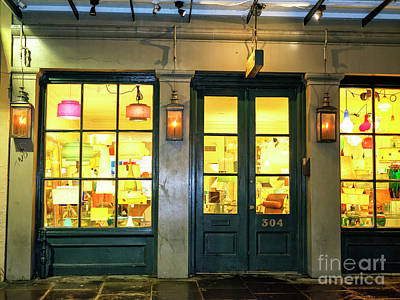 Photograph - French Quarter Lights At Night New Orleans by John Rizzuto