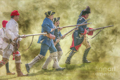 Digital Art - French Soldier Charge Penns Colony by Randy Steele