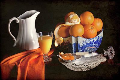Jar Photograph - Fresh Oranges And Range Juice by Rachel Slepekis