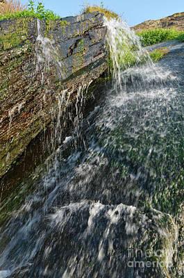Photograph - Fresh Waterfall In Amalia Beach. Alentejo by Angelo DeVal