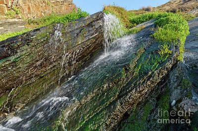 Photograph - Fresh Waterfall In Amalia Beach. Southwest Alentejo by Angelo DeVal