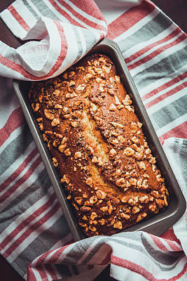 Photograph - Freshly Baked Banana Bread by Jeanette Fellows
