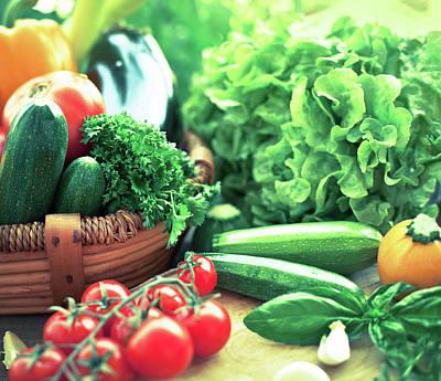 Zucchini Photograph - Freshness Vegetables by Jasmina007