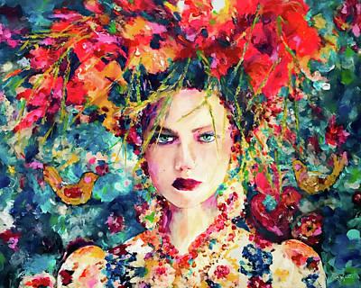 Painting - Frida-esque' by Kimberly Potts
