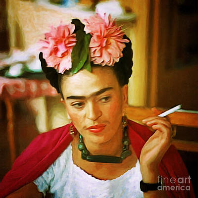 Photograph - Frida Kahlo 20180922 Square by Wingsdomain Art and Photography