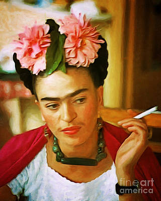 Photograph - Frida Kahlo 20180922 by Wingsdomain Art and Photography