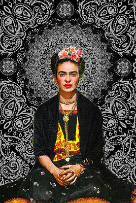Painting - Frida Kahlo 4 by Tony Rubino
