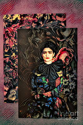 Photograph - Frida Kahlo Artist Decor Design  by Chuck Kuhn