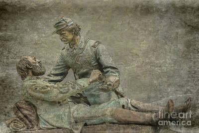 Digital Art - Friend To Friend Monument Gettysburg Ver Three by Randy Steele