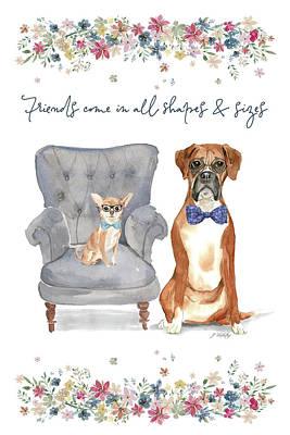 Painting - Friends Come In All Shapes And Sizes - Kindness Connection Art by Jordan Blackstone