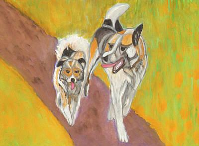 Painting - Friends by Dobrotsvet Art