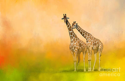 Wildlife Mixed Media - Friends For Life by Marvin Spates