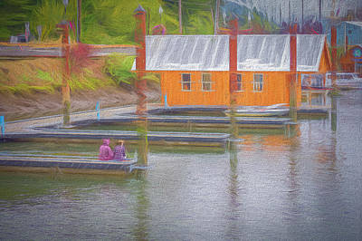 Photograph - Friends Sitting On The Dock by Bill Posner