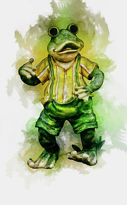 Digital Art - Frog Art by Ian Mitchell