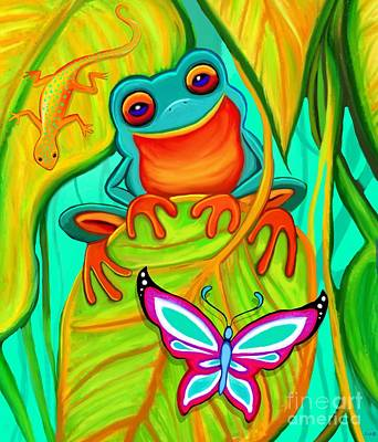 Royalty-Free and Rights-Managed Images - Frog, Gecko, and Butterfly by Nick Gustafson