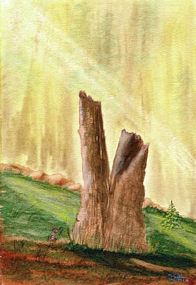 Painting - From Ruins Comes New Life by Rich Stedman