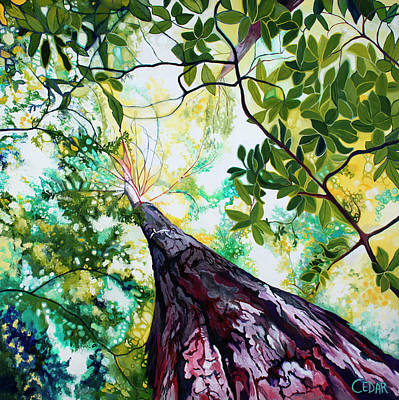 Painting - From the Forest Floor by Cedar Lee