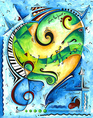 Painting - From The Heart Musical Pop Art Painting By Megan Duncanson by Megan Duncanson