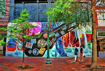 Photograph - Front Street Mural - Memphis by Allen Beatty