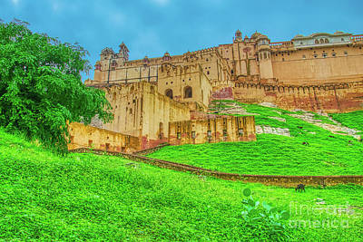 Urban Abstracts - Front view of Amer Fort - India by Stefano Senise
