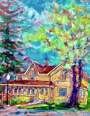 Painting - Front Yard View by Les Leffingwell
