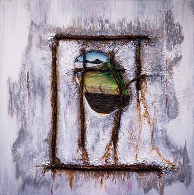 Painting - Frontier IIi - Decay by Juan Contreras