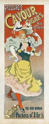 Painting - Frosards Cavour Cigars, 1895 French Vintage Poster by Georges Meunier