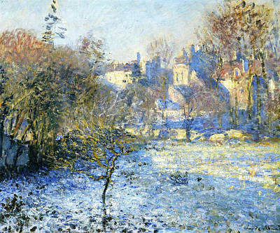Personalized Name License Plates - Frost, 1875 by Claude Monet