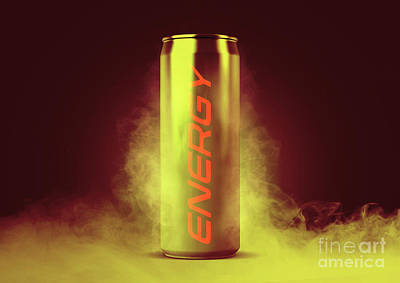 Digital Art - Frosted Energy Drink Can by Allan Swart