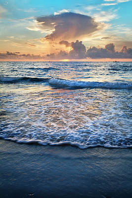 Photograph - Frothy Waves At Sunrise by Debra and Dave Vanderlaan