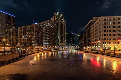 Photograph - Frozen City by Randy Scherkenbach