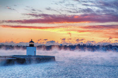 Photograph - Frozen Fog On Salem Harbor by Jeff Folger