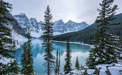 Christmas Christopher And Amanda Elwell - Frozen Moraine Lake by Cory Huchkowski