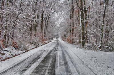 Frozen Road Art Print