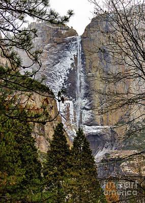 Wall Art - Photograph - Frozen Yosemite Falls by Roslyn Wilkins