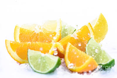 Queen Rights Managed Images - Fruit mix in water splash Royalty-Free Image by Wdnet Studio